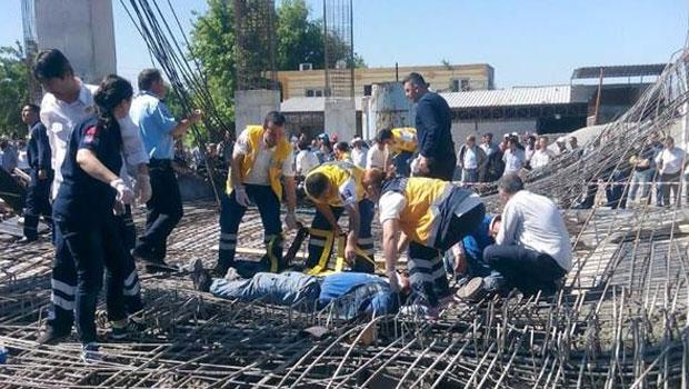 Kahramanmaraş'ta İnşaat Çöktü: 9 İşçi Yaralı galerisi resim 1