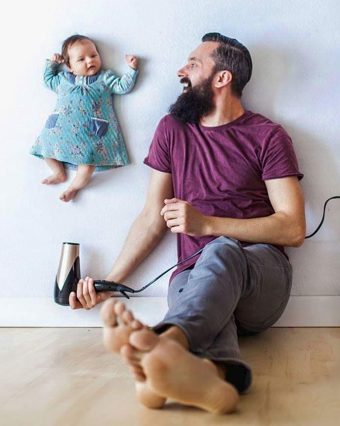 Babanın Bebeği İle Oluşturduğu Harika Albüm galerisi resim 1