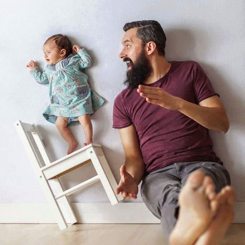Babanın Bebeği İle Oluşturduğu Harika Albüm galerisi resim 2