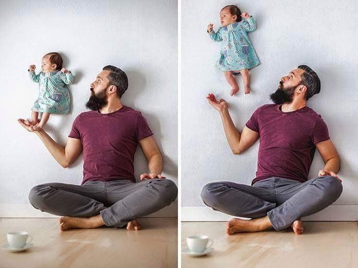 Babanın Bebeği İle Oluşturduğu Harika Albüm galerisi resim 5