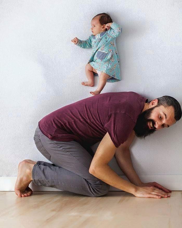 Babanın Bebeği İle Oluşturduğu Harika Albüm galerisi resim 7