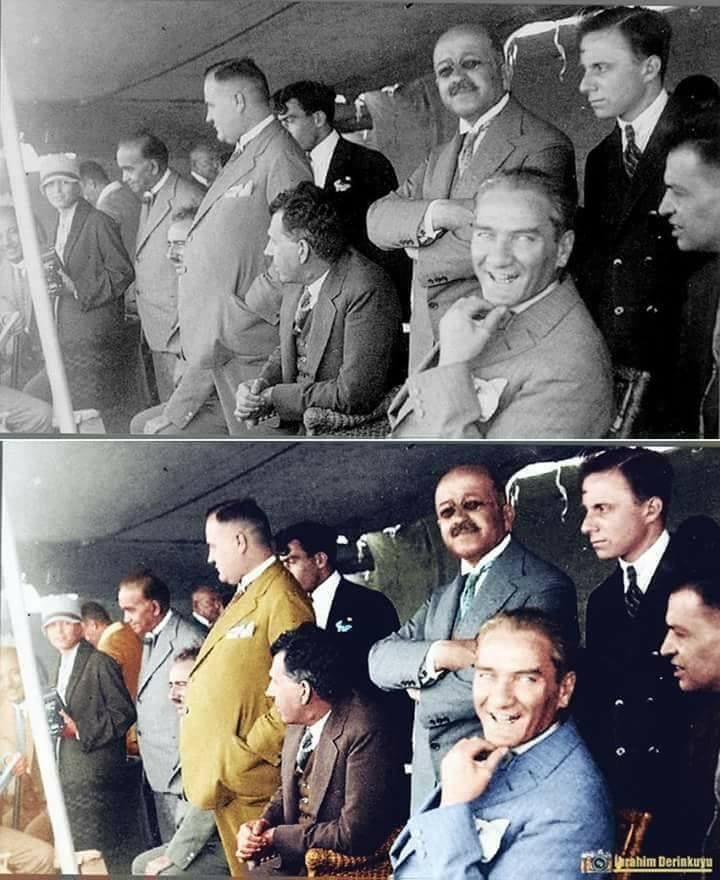 M.K. Atatürk Albümü (Orijinal ve Renklendirilmiş Fotoğraflar) galerisi resim 1