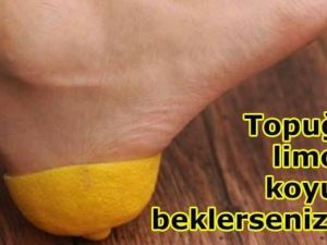 Topuğa Limon Koyup Bekletmenin İnanılmaz Faydası!