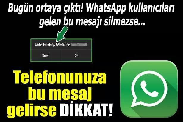 Dikkat! WhatsApp'ı Kilitleyen Mesaj!