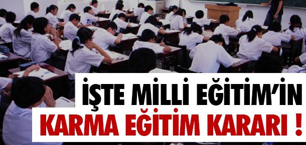 """Milli Eğitimin """"Karma Eğitim"""" Kararı!"""