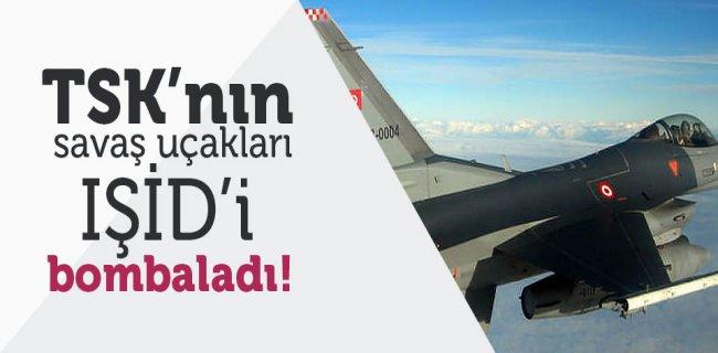 TSK'nın Savaş Uçakları IŞİD'i Bombaladı!