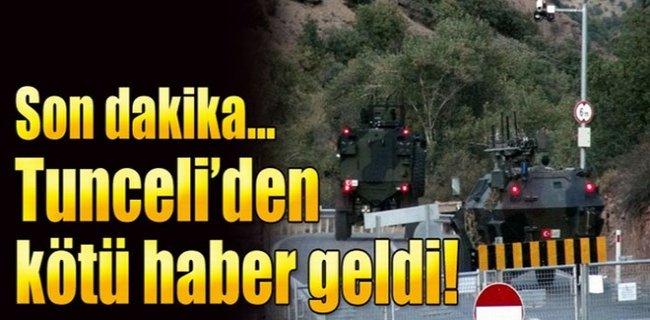 Tunceli'den Çok Acı Haber
