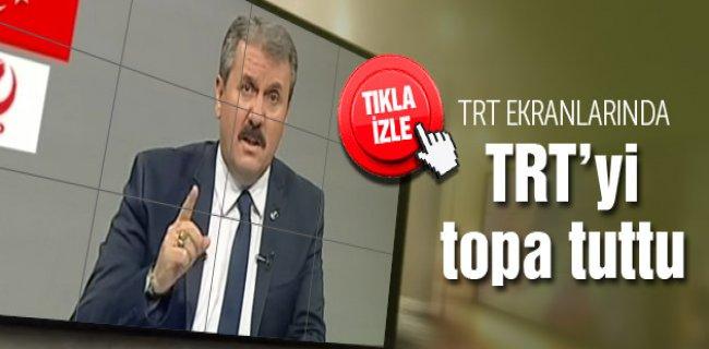 Destici TRT Ekranlarında TRT'yi Topa Tuttu