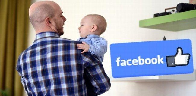Facebook'tan Baba Olanlara 4 ay Doğum İzni