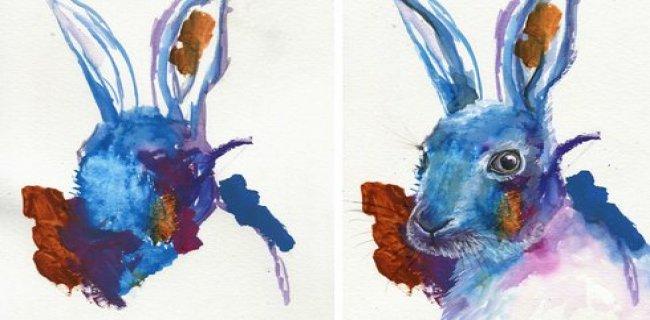 3 Yaşındaki Kızının Çizimlerini Harika Resimlere Dönüştüren Anne