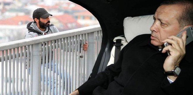 Erdoğan, İntihar Girişiminde Bulunan Genci Vazgeçirdi