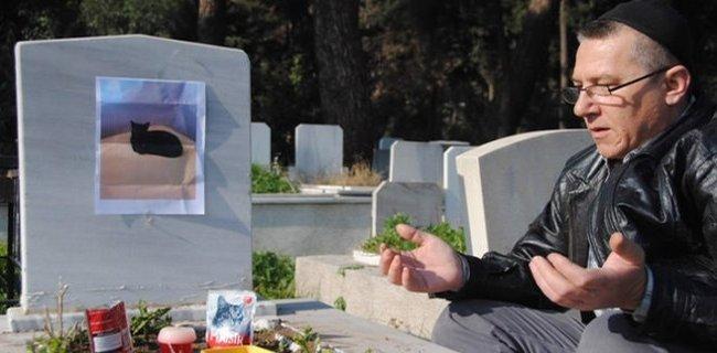 Kedisini Kayınpederinin Mezarına Gömdü