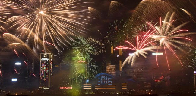 Dünya 2016'ya Havai Fişeklerle, Görsel Şölenlerle Girdi!