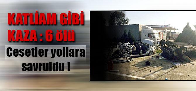 İzmir Dikili İlçesinde Trafik Kazası 6 Ölü !