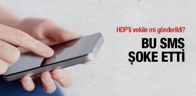Sur'da PKK'lı  Terörist HDP'li Vekile Bu SMS'i mi Gönderdi?