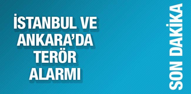 İstanbul ve Ankara'da Terör Alarmı Güvenlik Arttırıldı