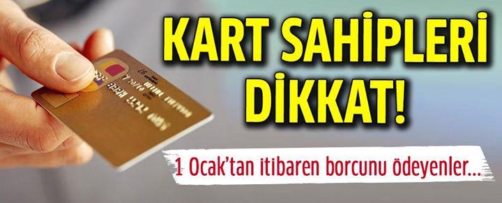 Kredi Kartı Kullananlar Dikkat ! 1 Ocak'tan İtibaren...
