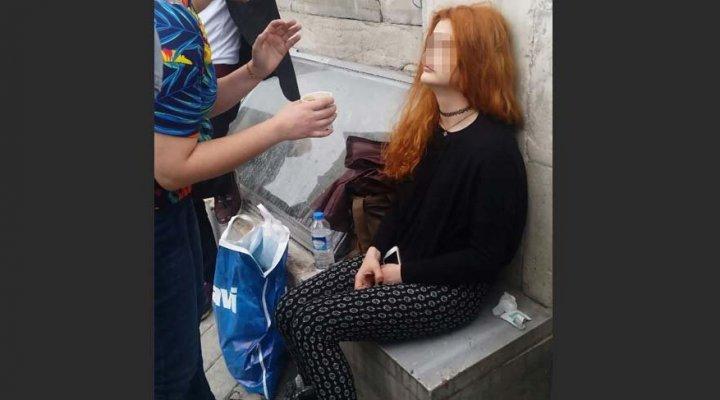 İstanbul'un Göbeğinde Genç Kızın İçler Acısı Hali