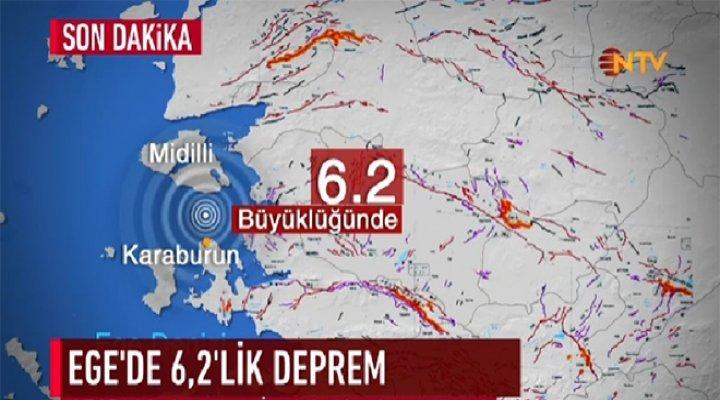 Ege Merkezli 6,2 Şiddetindeki Deprem, İstanbul'da Hissedildi