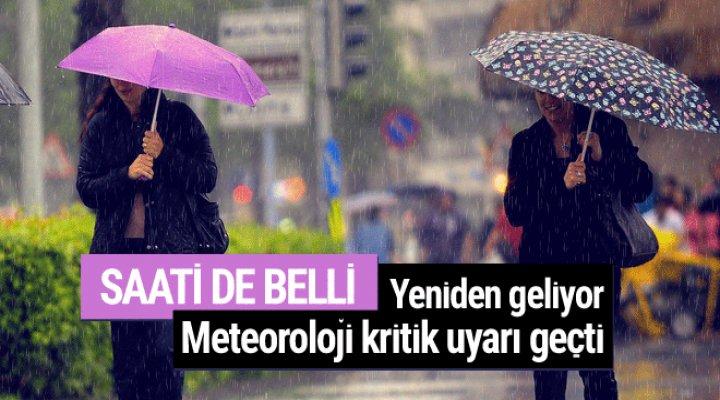 Meteoroloji Kritik Uyarı Geçti Saati de Belli 30'dan Fazla İli Vuracak