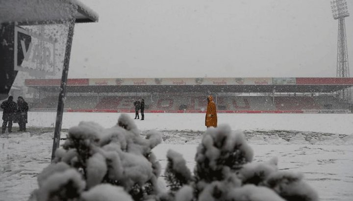 Boluspor – Galatasaray maçına kar engeli