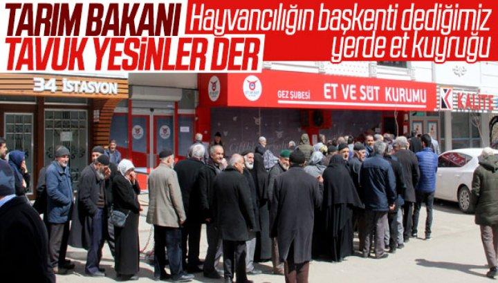Hayvancılığın merkezi Erzurum'da ucuz et kuyruğu