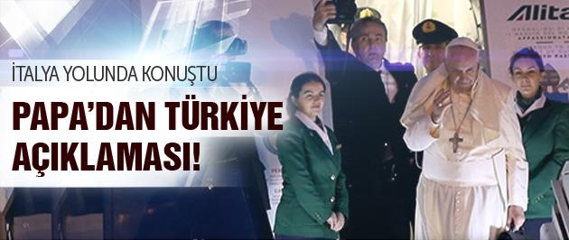 Papa Francesco'dan Türkiye Açıklaması...