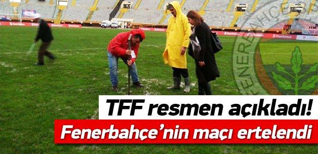 Altınordu - Fenerbahçe Hava Şartları Yüzünden Ertelendi !