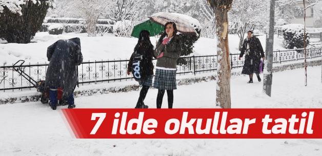 7 İlde Okullar Hava Şartları Nedeniyle Tatil Edildi !