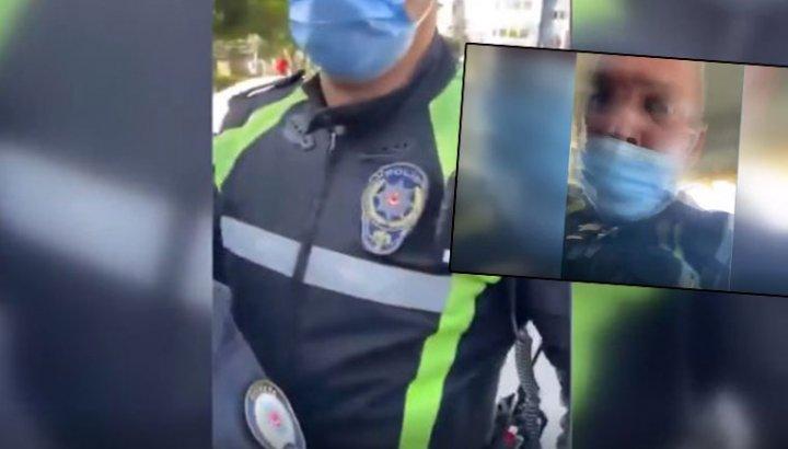 Araçtan yangın tüpü çıkmayınca sürücüyü gözaltına alan trafik polisi: Geç ulan arabaya dellendirme adamı!