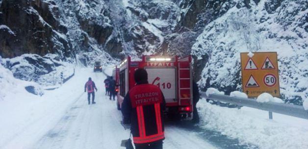 Trabzon - Çaykara'da Çığ Düştü