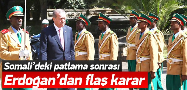 Erdoğan Patlamaya Rağmen Somali Gezisini İptal Etmedi