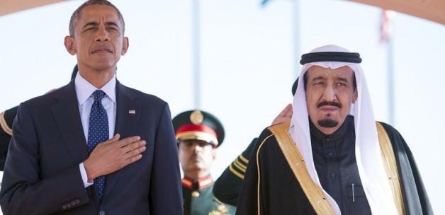 Suud Kral'ı Barack Obama'yı Bırakıp Namaza Gitti