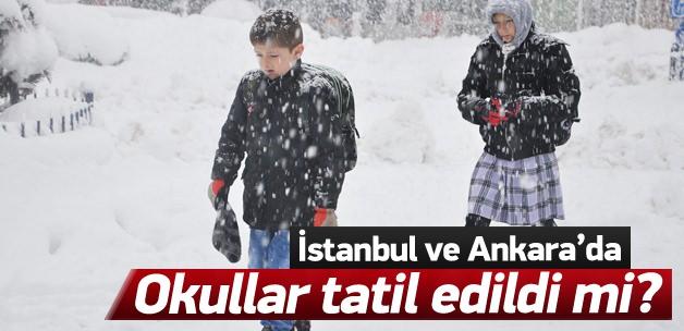 İstanbul ve Ankara'da okullar tatil mi?