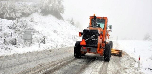 Karabük'te Kar Yağışı Nedeniyle 56 Köy Yolu Kapandı