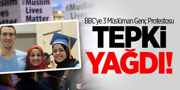 BBC Genel Merkezi Önünde 3 Müslüman Genç Protestosu