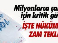 Hükümetin Asgari Ücrete Zam Teklifi!