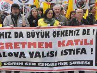 Eskişehir'de Yalova Valisi'ne Tepki Yürüyüşü