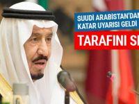 Suudi Arabistan'dan Sert Katar Uyarısı: Tarafını Seç