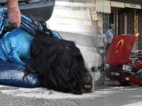 Genç Kız 'Drift' Yaparken Kaza Yaptı, Krize Girip Otomobilini Yakmaya Kalkıştı