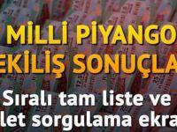 Milli Piyango Sıralı Tam Liste Yayınlandı!