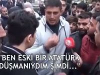 Atatürk düşmanı olduğunu belirten gencin ağzından bugün bakın neler döküldü