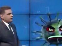 Irak'ta bir televizyon kanalı koronavirüs ile röportaj yaptı: İyi bir yanın var mı?