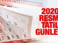 2020 resmi ve dini tatiller listesi
