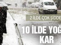 10 İle Kar Geliyor 2 İle Şiddetli Kar Yağışı Uyarısı!