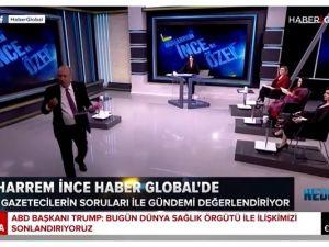 Muharrem İnce canlı yayını terk etti! Erdoğan'a kızıp canlı yayını terk etti!