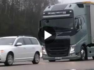 Volvo Tırlarında Acil Muhteşem Fren Sistemi