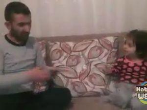 Babayla Küçük Kızının Atışması